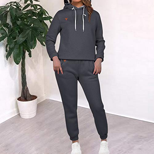 MoneRffi Women Tracksuit 2 Piece Set Casual Pullover Hoodie Tops and Sweatpants Sportwear Jogger Outfits Loungwear Set 3
