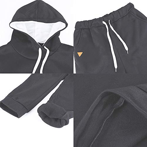 MoneRffi Women Tracksuit 2 Piece Set Casual Pullover Hoodie Tops and Sweatpants Sportwear Jogger Outfits Loungwear Set 9