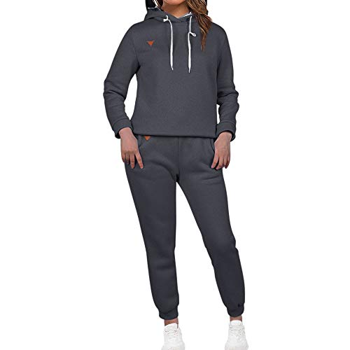 MoneRffi Women Tracksuit 2 Piece Set Casual Pullover Hoodie Tops and Sweatpants Sportwear Jogger Outfits Loungwear Set 1
