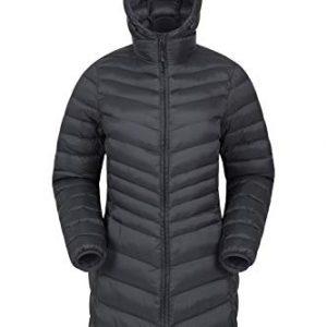 Lightweight Ladies Jacket Water Resistant Rain Coat 30C Heat Rating Warm for Outdoors Walking Mountain Warehouse Florence Womens Winter Long Padded Jacket