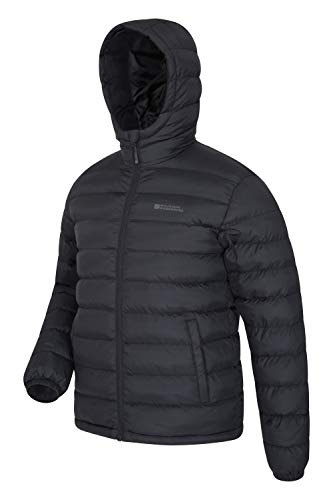 Mountain Warehouse Season Mens Padded Jacket - Water Resistant Jacket, Lightweight, Warm, Lab Tested to -30C, Microfibre… 3