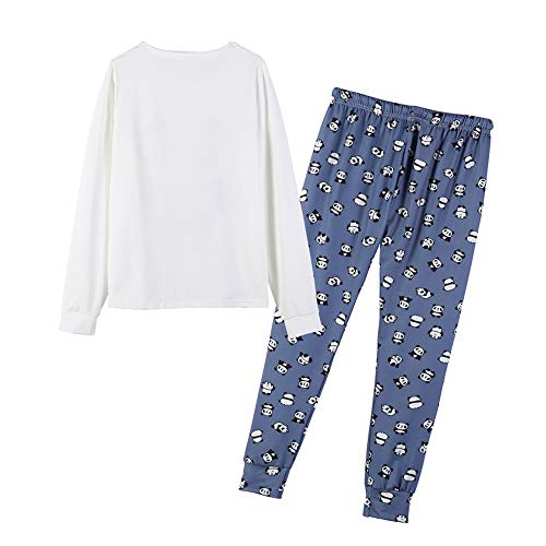 MyFav Women's Sleepwear Long Sleeve Top and Pants Pyjama Set Panda Print Nighty 4