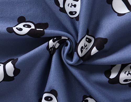 MyFav Women's Sleepwear Long Sleeve Top and Pants Pyjama Set Panda Print Nighty 8