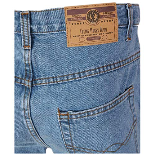 MyShoeStore Mens Original Cotton Jeans Plain Straight Leg Heavy Duty Denim Wash Boys Jean Classic Designer Fit Casual… 3