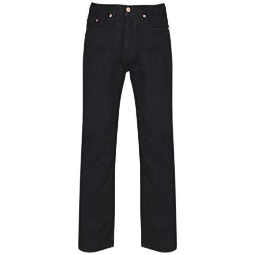 MyShoeStore Mens Original Cotton Jeans Plain Straight Leg Heavy Duty Denim Wash Boys Jean Classic Designer Fit Casual… 4