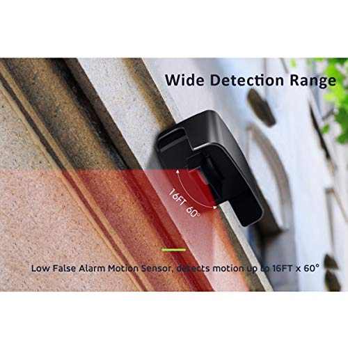 Mydome Wireless Driveway Alarm Sensor & Garden Sensor alarm | Home Security Plugin Chime Kit, Designed for UK Homes and the UK weather, Clear Audio & Visual Notification