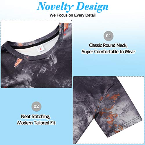 NEWISTAR Unisex 3D Printed Summer Casual Short Sleeve T Shirts Tees 3