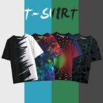 NEWISTAR Unisex 3D Printed Summer Casual Short Sleeve T Shirts Tees 21