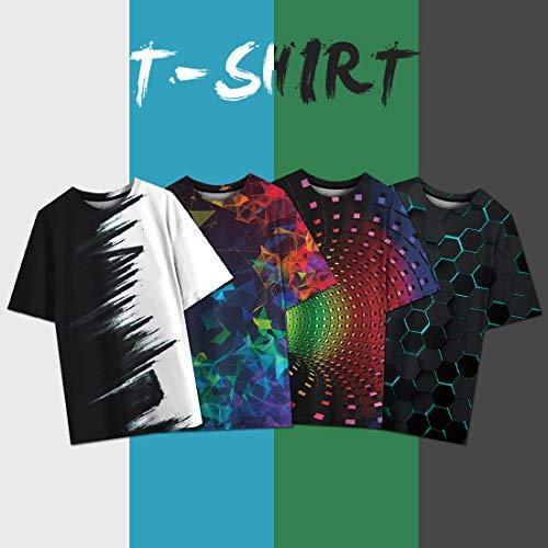 NEWISTAR Unisex 3D Printed Summer Casual Short Sleeve T Shirts Tees 6