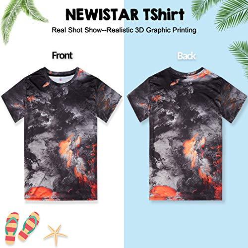 NEWISTAR Unisex 3D Printed Summer Casual Short Sleeve T Shirts Tees 7