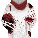 NEWISTAR Unisex Hoodies HD 3D Print Pullover Lightweight Sweatshirts Pockets 18