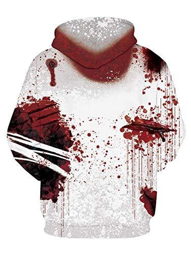 NEWISTAR Unisex Hoodies HD 3D Print Pullover Lightweight Sweatshirts Pockets 5
