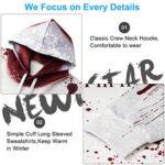 NEWISTAR Unisex Hoodies HD 3D Print Pullover Lightweight Sweatshirts Pockets 19