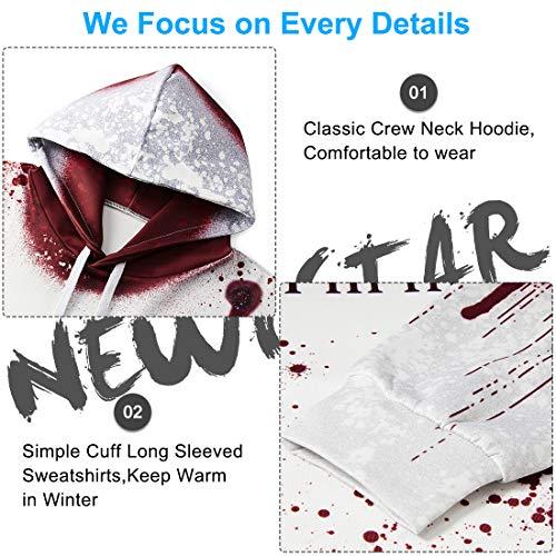 NEWISTAR Unisex Hoodies HD 3D Print Pullover Lightweight Sweatshirts Pockets 6