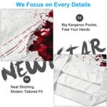NEWISTAR Unisex Hoodies HD 3D Print Pullover Lightweight Sweatshirts Pockets 20
