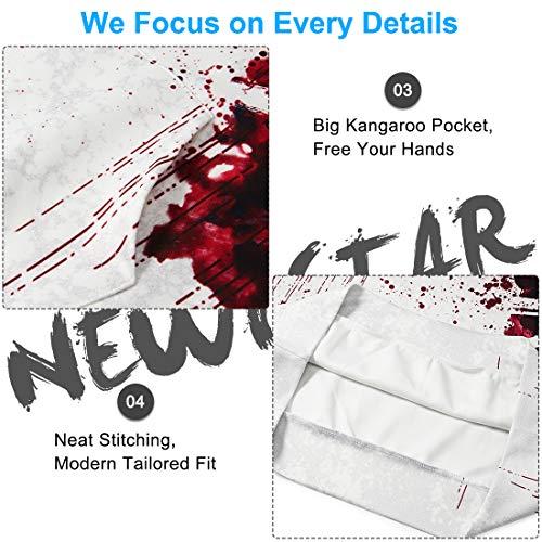 NEWISTAR Unisex Hoodies HD 3D Print Pullover Lightweight Sweatshirts Pockets 7