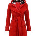 NOROZE Womens Long Sleeve Belted Button Fleece Coat 7