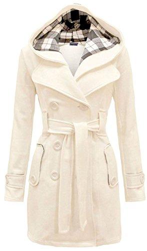 NOROZE Womens Long Sleeve Belted Button Fleece Coat Size 8 10 12 14 16 18 20 22 24 26 1