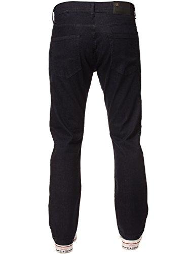 New Mens ENZO Stretch Straight Leg Regular Fit Classic Basic Denim Jeans 4