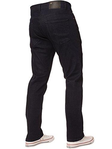 New Mens ENZO Stretch Straight Leg Regular Fit Classic Basic Denim Jeans 5