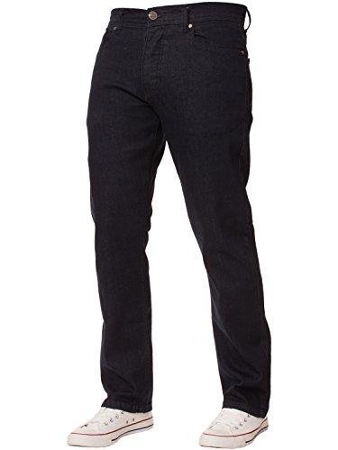 New Mens ENZO Stretch Straight Leg Regular Fit Classic Basic Denim Jeans 6