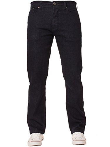 New Mens ENZO Stretch Straight Leg Regular Fit Classic Basic Denim Jeans 2