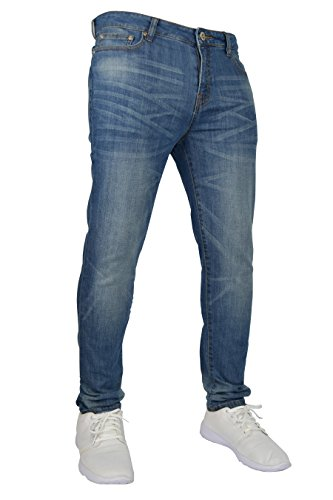 New Mens Stretch Skinny Slim Fit Flex Jeans Pant Stretchable Denim 98% Cotton & 2% Stretch Trouser 28-40 Waist 1