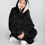 Oversize Teddy Sherpa Cuddly Cosy Sweatshirt Hoodie Double Layer Thermal Giant Blanket with Front Pocket Adults Teens… 12