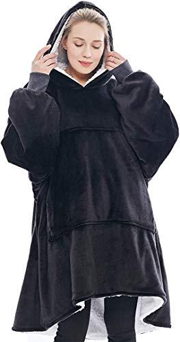 Oversized Sherpa Hoodie, Wearable Hoodie Sweatshirt Blanket, Super Soft Warm Comfortable Blanket Hoodie, One Size Fits… 3