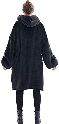 Oversized Sherpa Hoodie, Wearable Hoodie Sweatshirt Blanket, Super Soft Warm Comfortable Blanket Hoodie, One Size Fits… 4