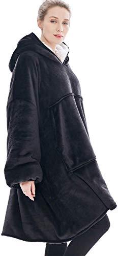 Oversized Sherpa Hoodie, Wearable Hoodie Sweatshirt Blanket, Super Soft Warm Comfortable Blanket Hoodie, One Size Fits… 5