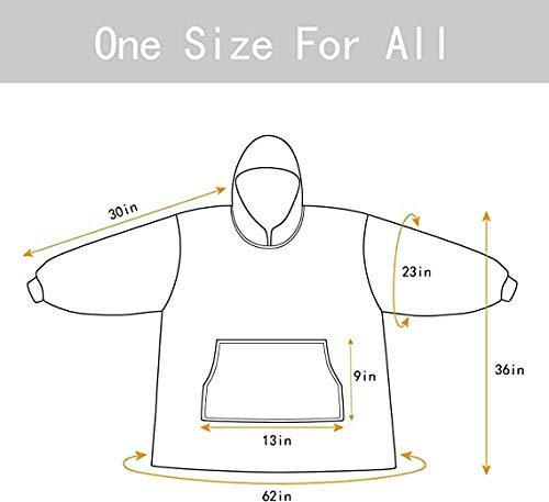 Oversized Sherpa Hoodie, Wearable Hoodie Sweatshirt Blanket, Super Soft Warm Comfortable Blanket Hoodie, One Size Fits… 6