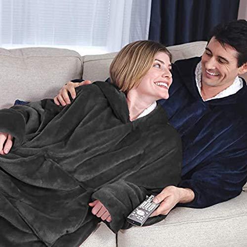 Oversized Sherpa Hoodie, Wearable Hoodie Sweatshirt Blanket, Super Soft Warm Comfortable Blanket Hoodie, One Size Fits… 7
