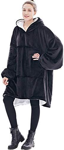 Seogva Oversized Sherpa Hoodie, Wearable Hoodie Sweatshirt Blanket, Super Soft Warm Comfortable Blanket Hoodie, One Size… 1