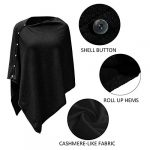 PULI Women Button Knitted Shawl Poncho Cape Cardigan Cashmere/Cashmere Feel Wrap Scarf for Spring Summer Autumn 19