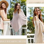PULI Women Button Knitted Shawl Poncho Cape Cardigan Cashmere/Cashmere Feel Wrap Scarf for Spring Summer Autumn 20