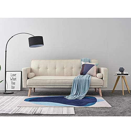 Panana Modern 3 Seater Sofa Bed Line Fabric Sofa Couch Settee Click Clack Recliner Sleeper with 2 Free Cushions for… 5
