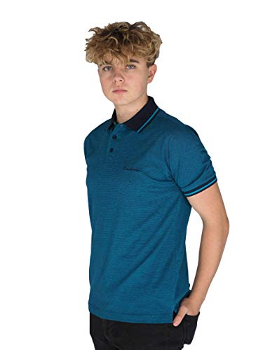 Pierre Cardin Mens Engineered Thin Stripe Polo with Signature Embroidery 3