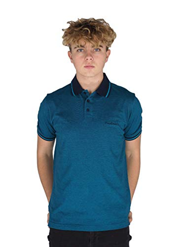 Pierre Cardin Mens Engineered Thin Stripe Polo with Signature Embroidery 1
