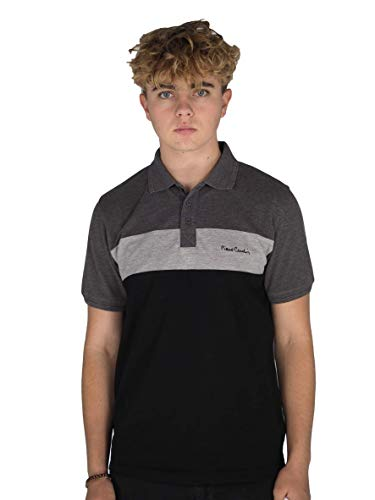 Pierre Cardin New Season Mens 100% Cotton Cut and Sew Stripe Panel Tipping Collar Pique Polo Shirt with Signature… 1