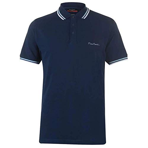 Pierre Cardin Tipped Men's Polo Shirt Short Sleeve Tee Top 1