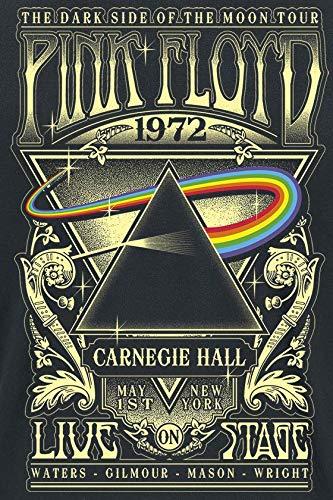 Pink Floyd Dark Side of The Moon - Live On Stage 1972 Men T-Shirt Black, Regular 3