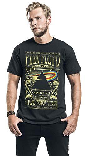 Pink Floyd Dark Side of The Moon - Live On Stage 1972 Men T-Shirt Black, Regular 7