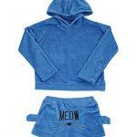 Poplover Womens Cute Fleece Pajamas Suit Hooded Sleepwear Meow Shorts Set 16