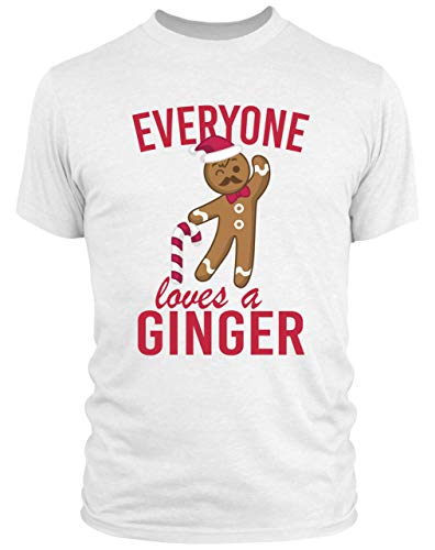 Purple Print House Mens Everyone Loves A Ginger T Shirt - Funny Christmas Themed Top for Him - with Ginger Hair 5