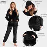 Pyjamas for Women Girls Ladies PJ's Comfy Snuggle Warm Fleece Twosie Pajama Set | Pyjama Flannel Shorts or Bottoms Set… 18