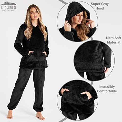 Pyjamas for Women Girls Ladies PJ's Comfy Snuggle Warm Fleece Twosie Pajama Set | Pyjama Flannel Shorts or Bottoms Set… 3