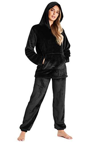Pyjamas for Women Girls Ladies PJ's Comfy Snuggle Warm Fleece Twosie Pajama Set | Pyjama Flannel Shorts or Bottoms Set… 1