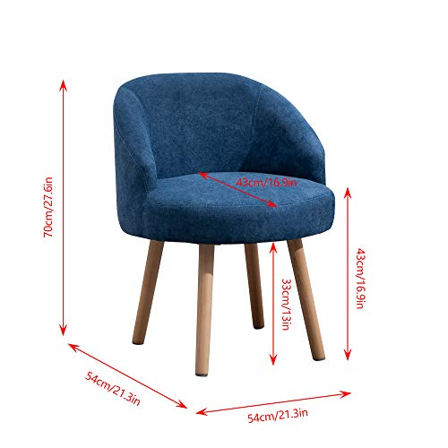 QIHANG-UK 2 Pcs Modern Fabric Armchairs, Small Living Room Chairs Set of 2 with Solid Wood Legs, Occasional Chairs Sofa… 8