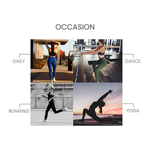 QUEENIEKE Yoga Leggings with Pocket Classic Tummy Control Medium Waist Running Pants Workout Tights for Women(60126) 4